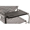 Outwell Chino Hills Sgabello pieghevole with Side Table nero